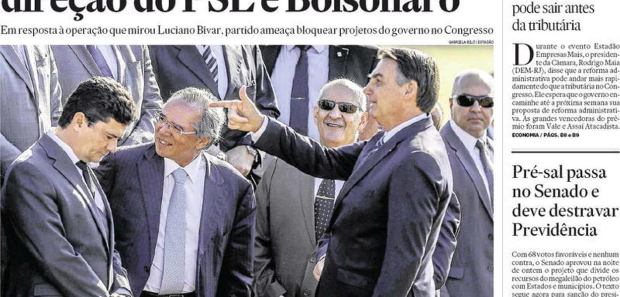 "Jair Bolsonaro ""executa"" Sergio Moro em foto"
