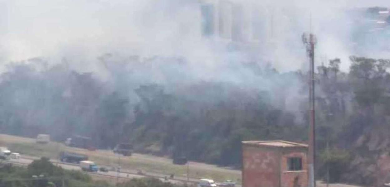 Incêndio próximo a UFMG