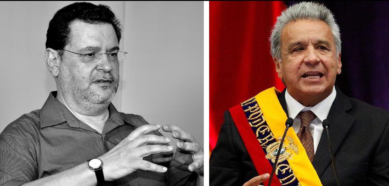 Rui Costa Pimenta e Lenín Moreno