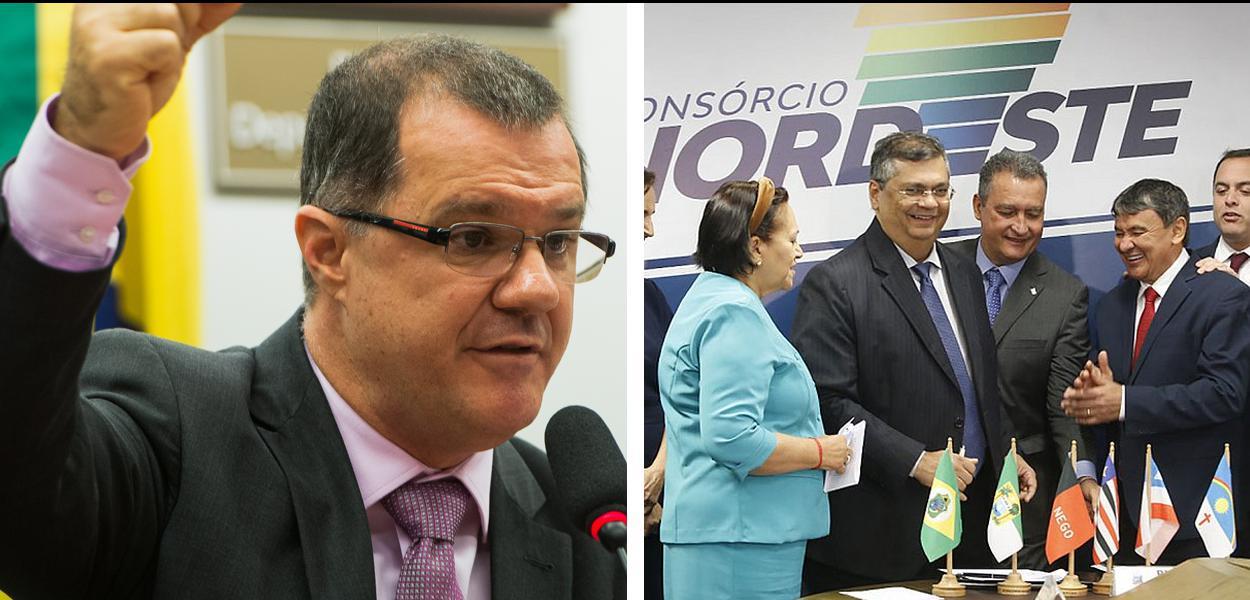 Carlos Gabas e governadores do nordeste