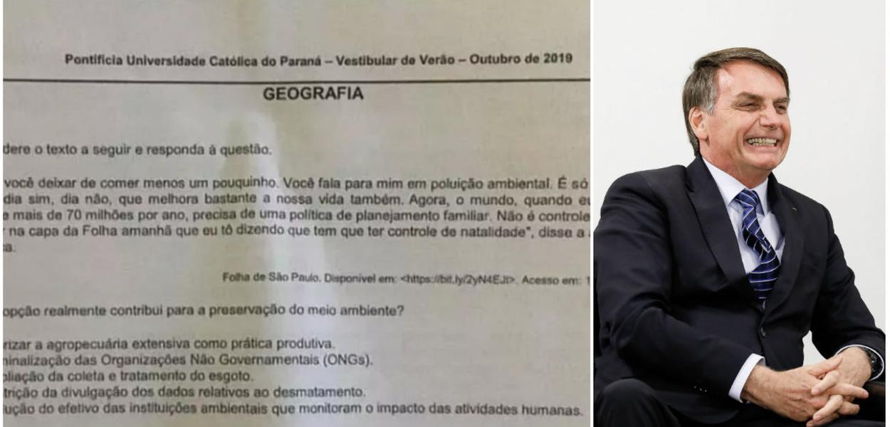 Prova de vestibular e Jair Bolsonaro