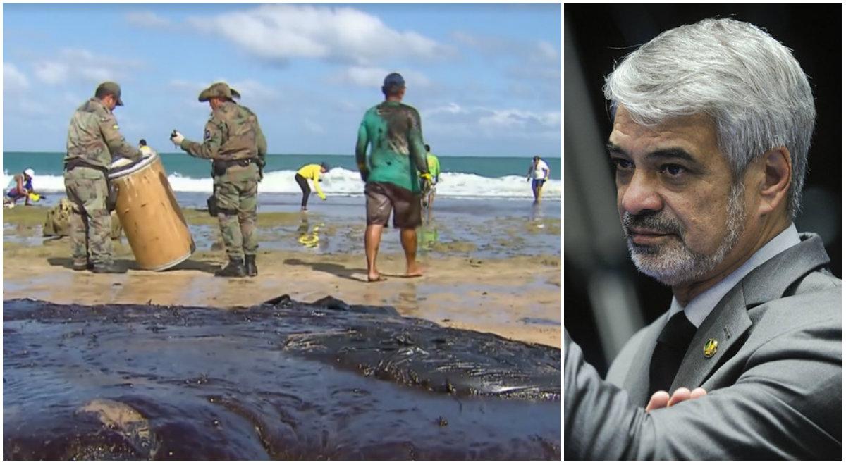 Senador Humberto Costa critica governo Bolsonaro por vazamento de óleo