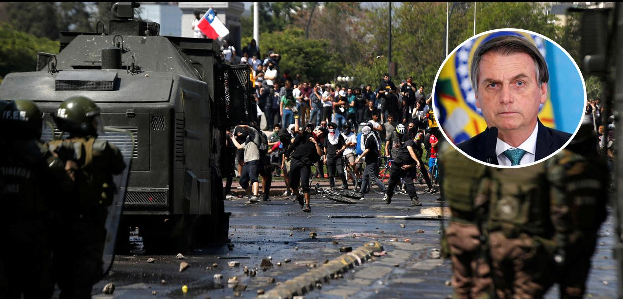 Protestos no Chile e Jair Bolsonaro