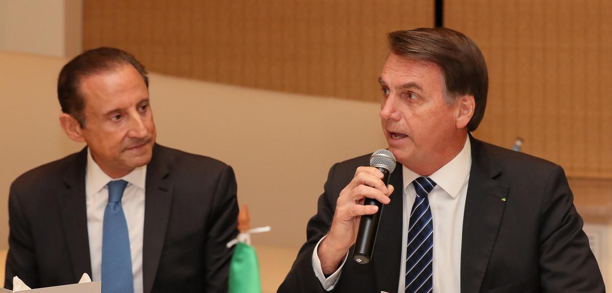 Paulo Skaf e Jair Bolsonaro na China