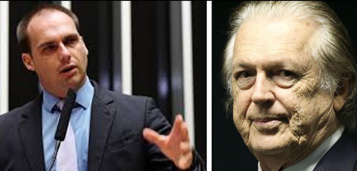 Eduardo Bolsonaro e Luciano Bivar