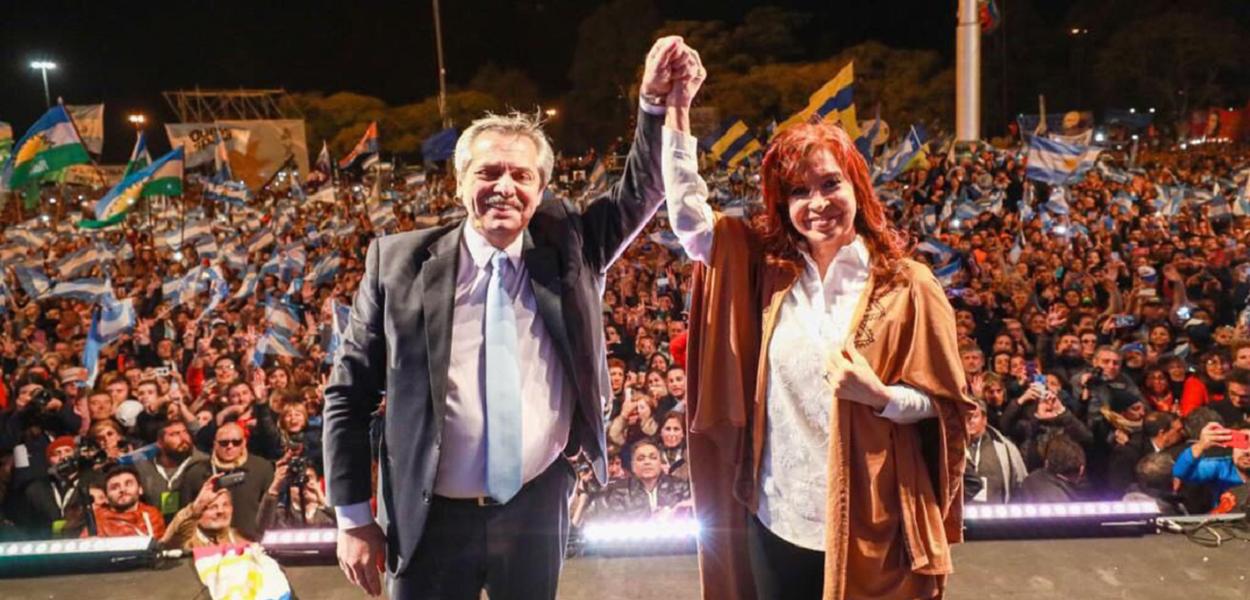Resultado de imagem para Alberto Fernández e Cristina Kirchner