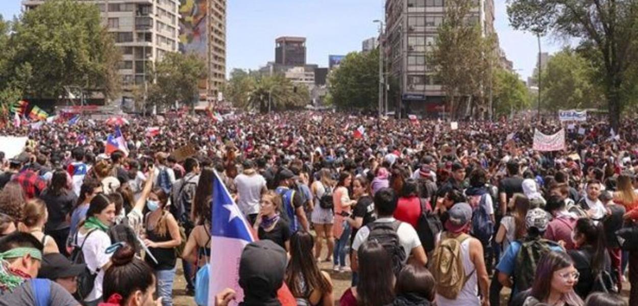 Manifestação no Chile