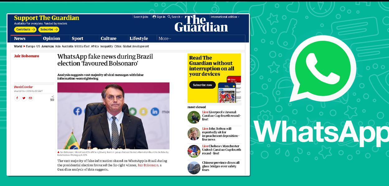 Estudo do Guardian revela dados sobre fake news do bolsonarismo