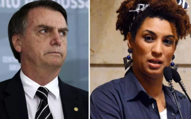Jair Bolsonaro e Marielle Franco