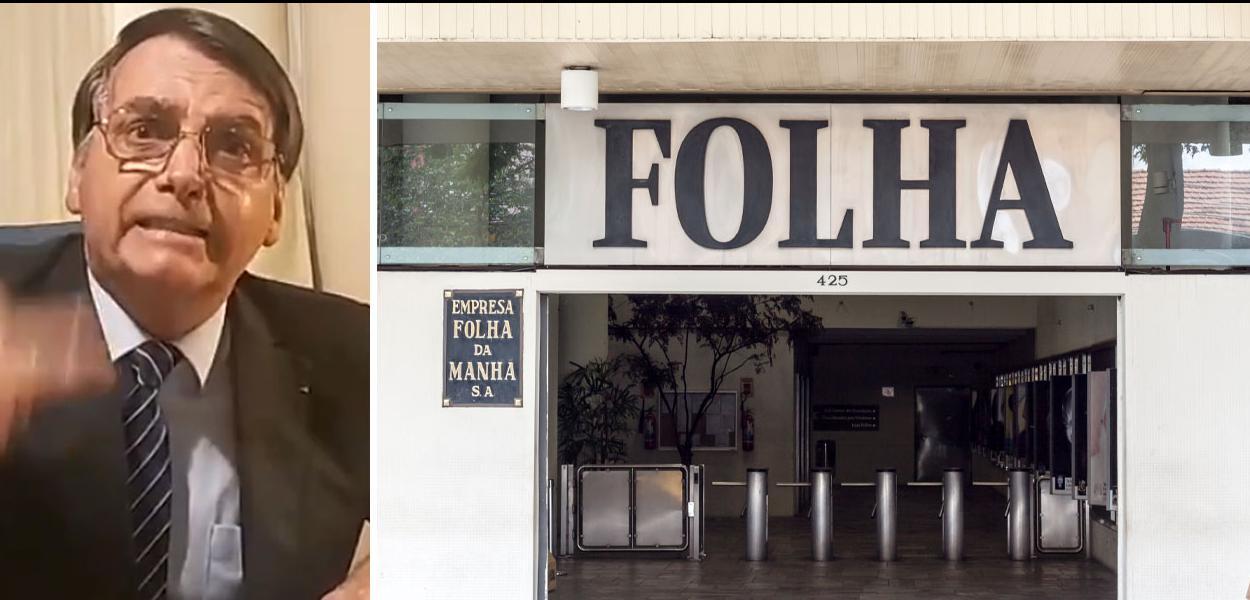 Jair Bolsonaro e Folha de S.Paulo