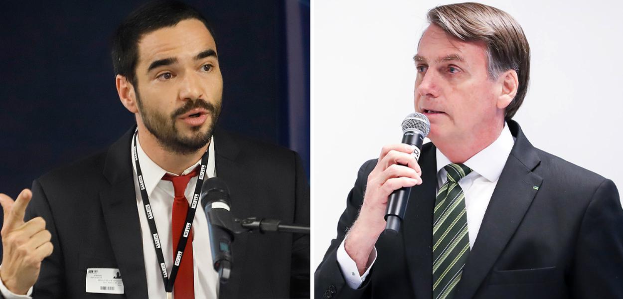 O ator Caio Blat e Jair Bolsonaro