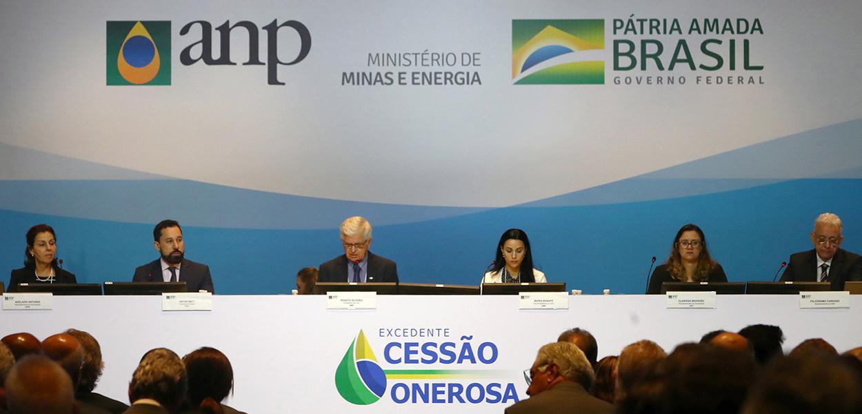 Leilão de excedentes da cessão onerosa, no Rio de Janeiro 06/11/2019