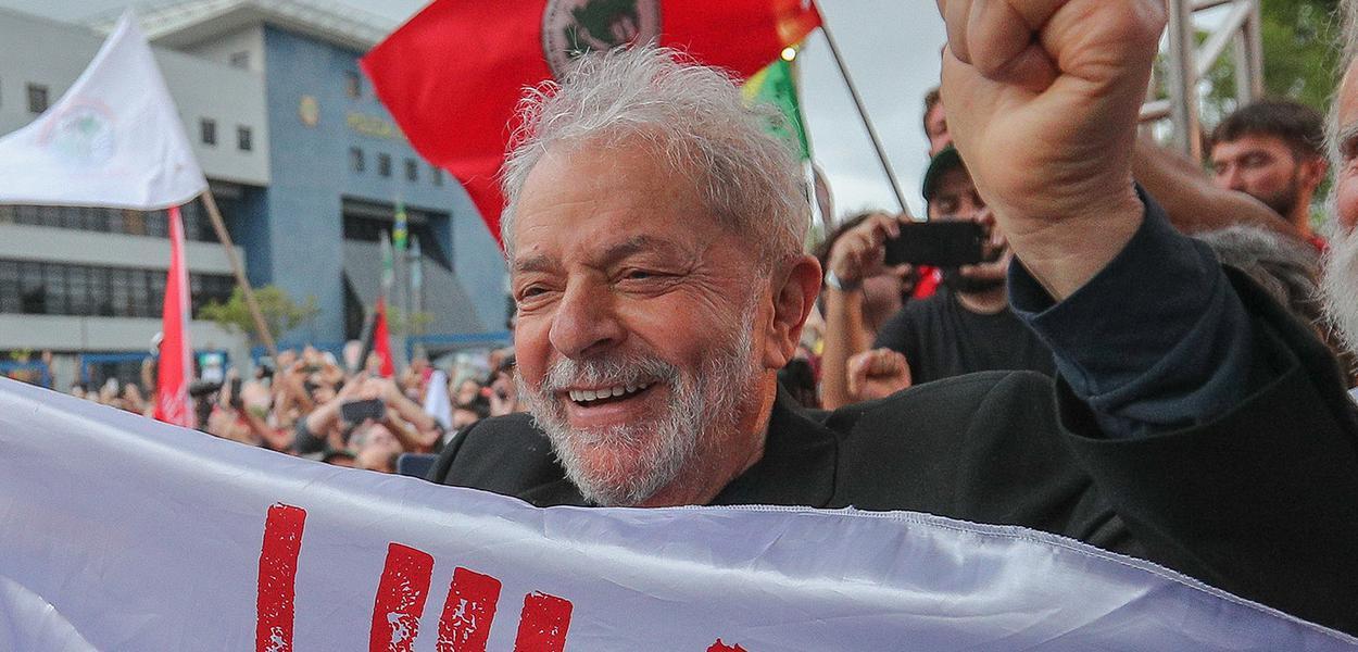 Lula na vigília em Curitiba