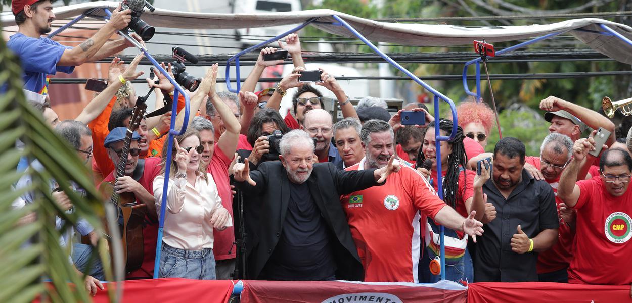 Lula no Sindicato dos Metalúrgicos do ABC, em São Bernardo