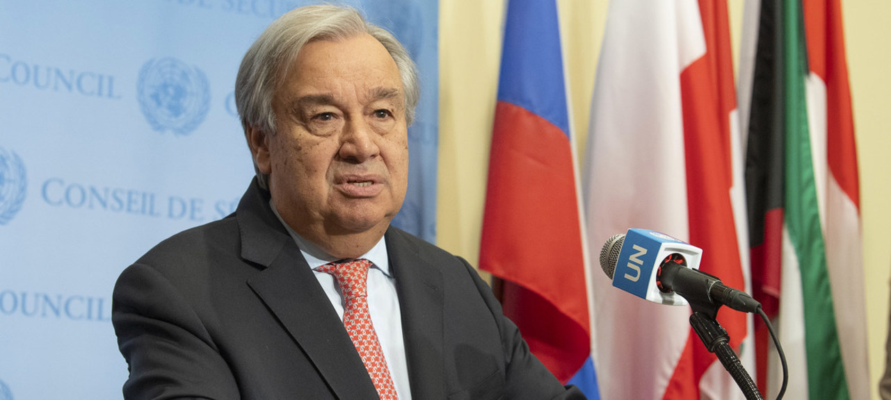 Antonio Guterrez, secretário-geral da ONU