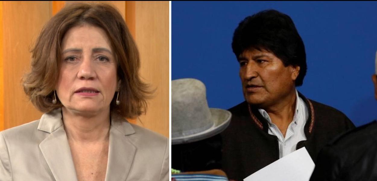 Miriam Leitão e Evo Morales