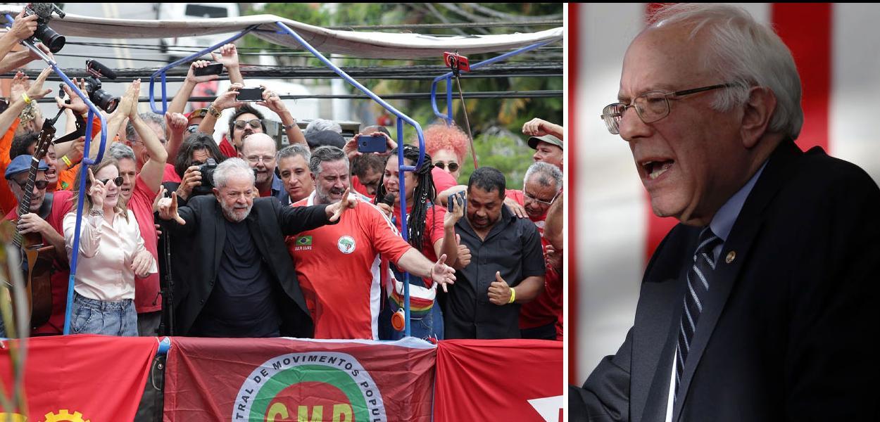 Ex-presidente Lula e Bernie Sanders