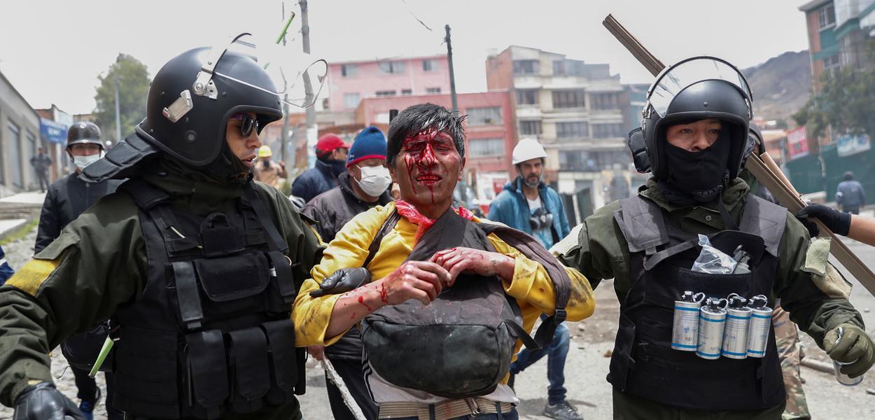 Protestos na Bolívia após golpe de Estado contra Evo Morales