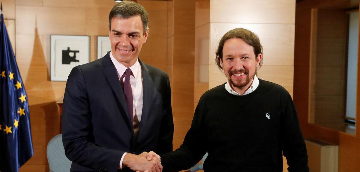 Pedro Sanchéz e Pablo Iglesias