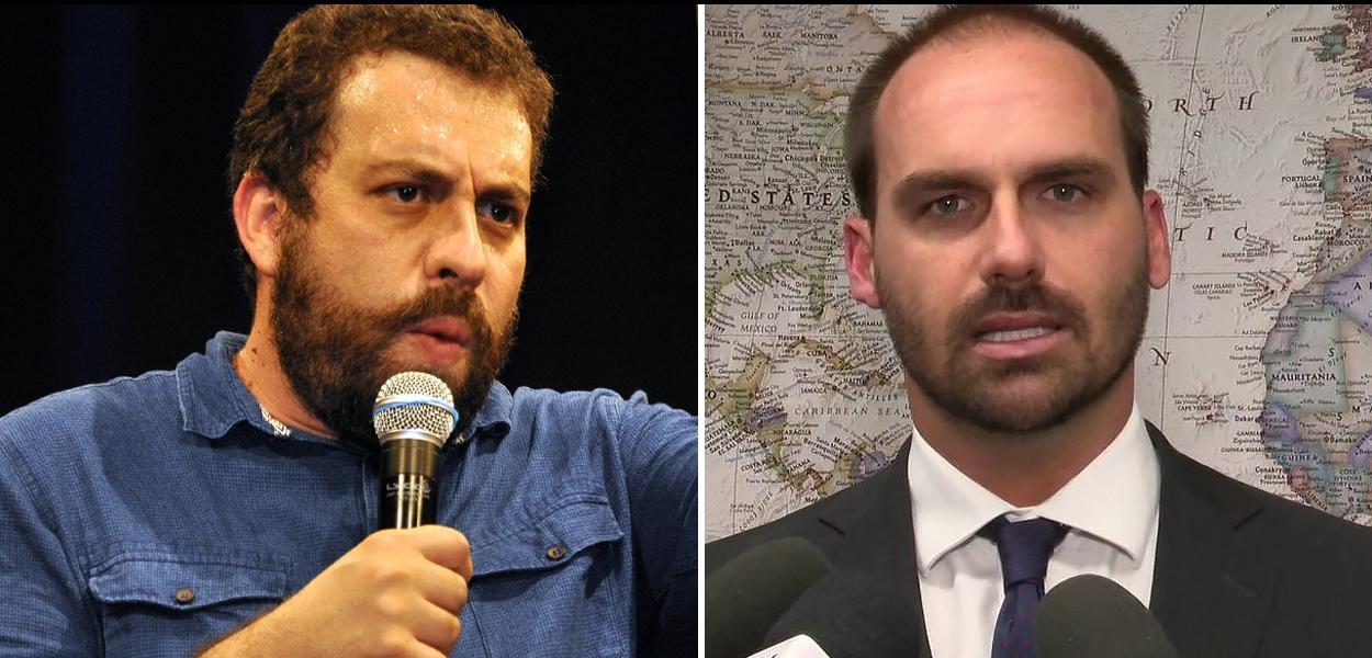 Guilherme Boulos e Eduardo Bolsonaro