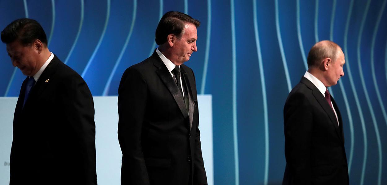 Bolsonaro, Xi e Putin em Fórum Empresarial dos Brics em Brasília