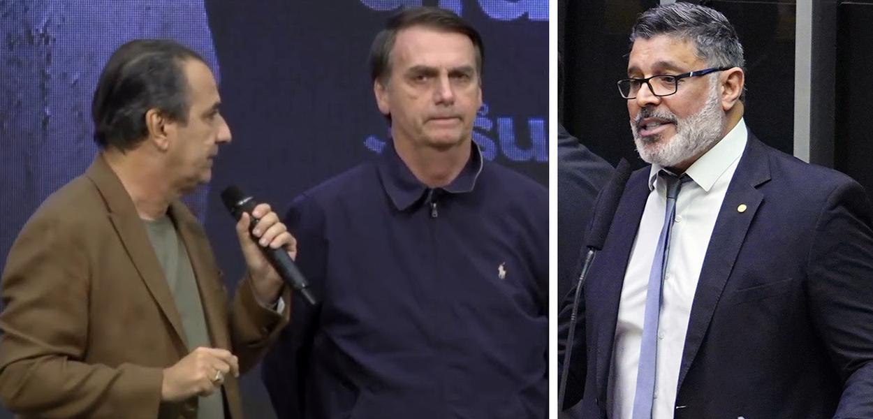 Silas Malafia, Jair Bolsonaro e Alexandre Frota