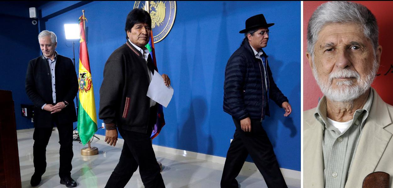 Evo Morales e Celso Amorim
