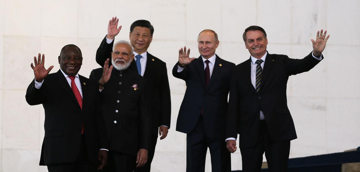 Presidentes do Brasil, China, Rússia, Índia e África do Sul