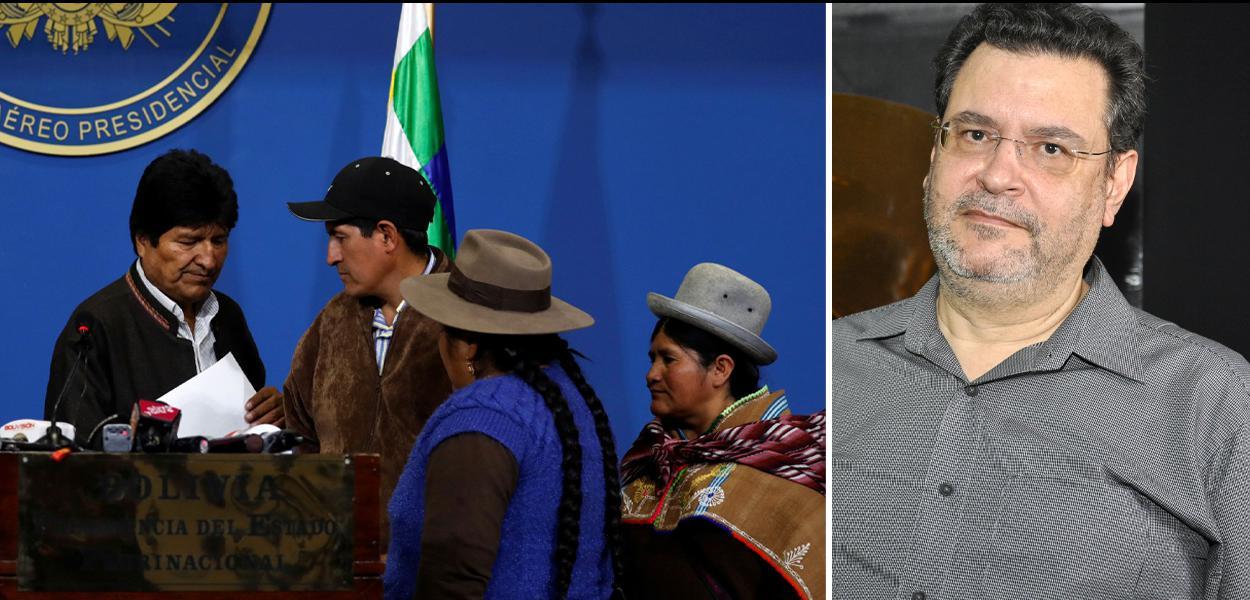 Evo Morales e Rui Costa Pimenta