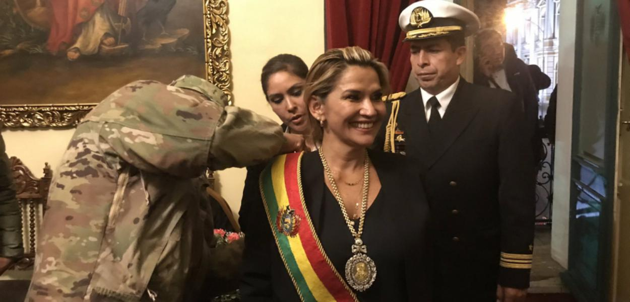 Jeanine Áñez, presidente autoproclamada da Bolívia