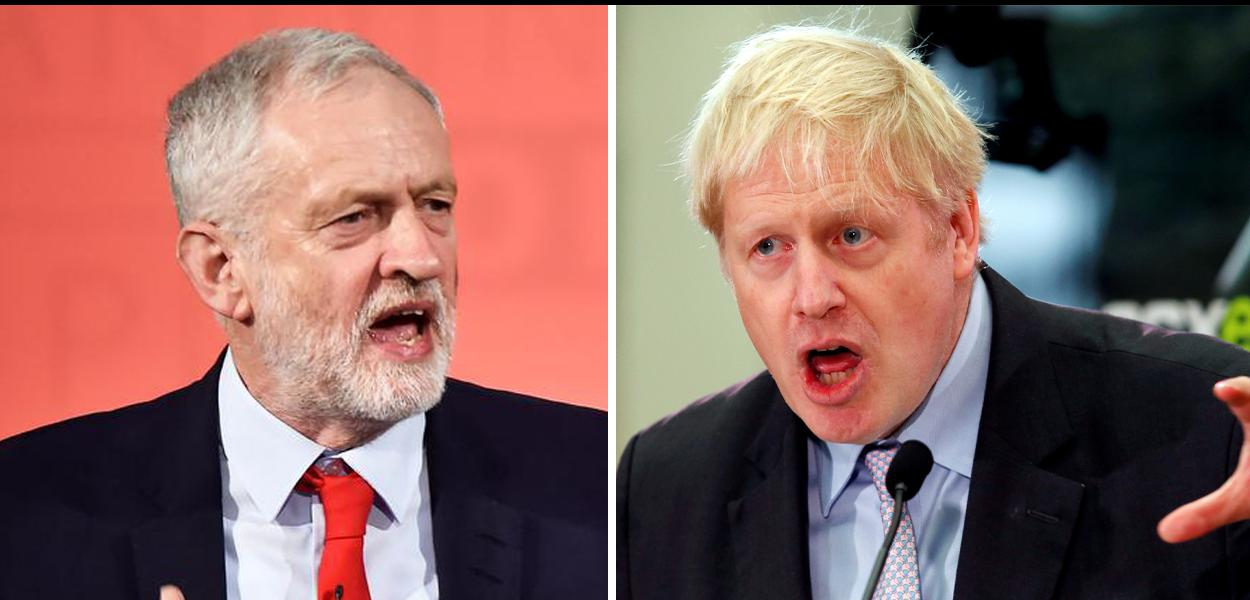 Boris Johnson e Jeremy Corbyn