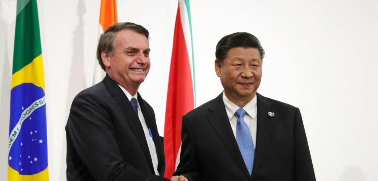 Jair Bolsonaro e Xi Jinping
