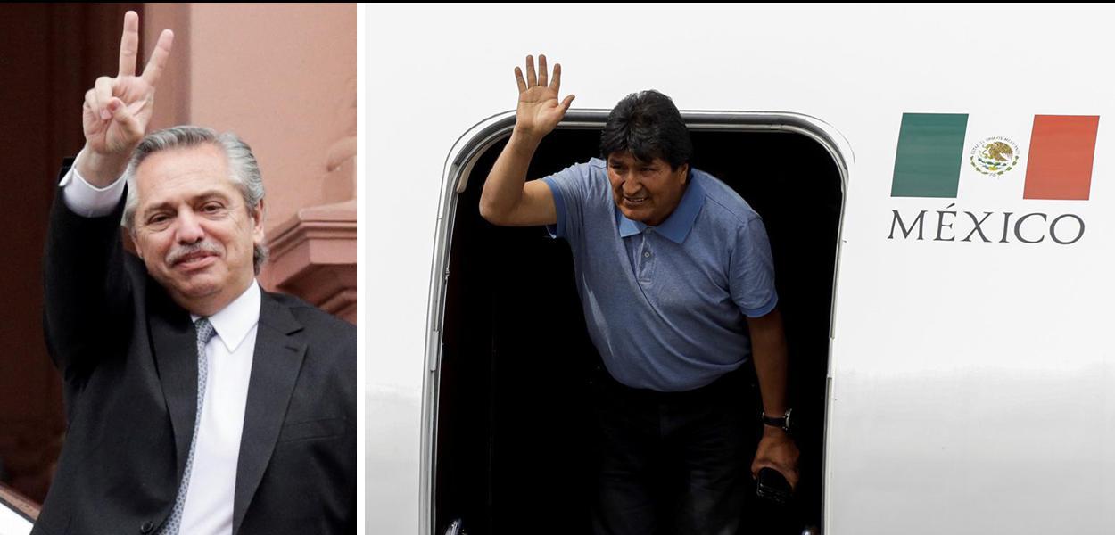 Alberto Fernández e Evo Morales