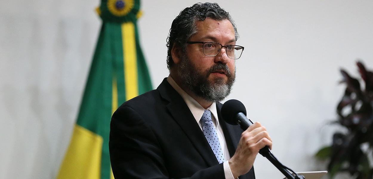 O ministro das Relações Exteriores, Ernesto Araújo