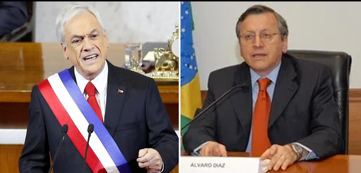 Sebastián Piñera e Álvaro Diaz