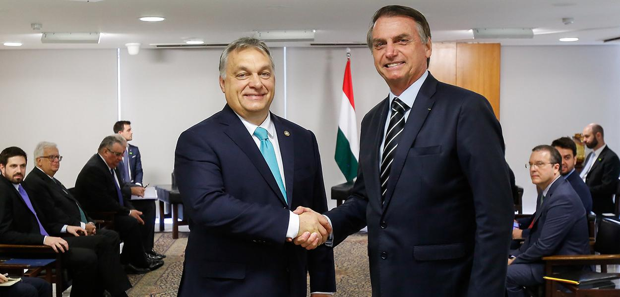 Viktor Orban e Jair Bolsonaro