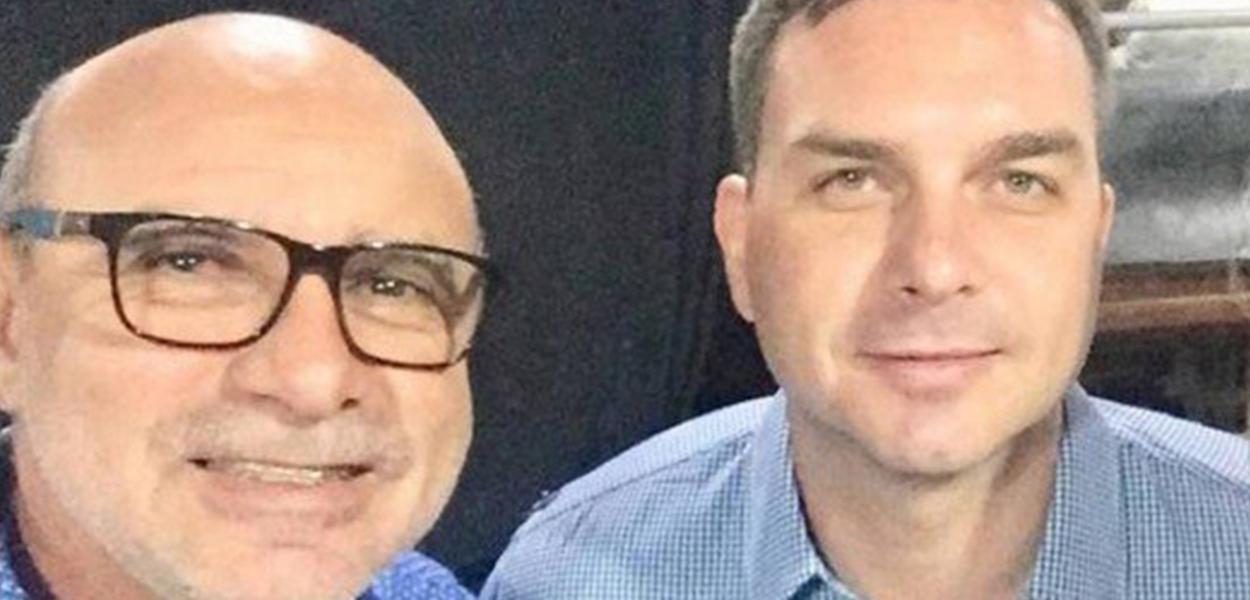 Queiroz e Flávio Bolsonaro