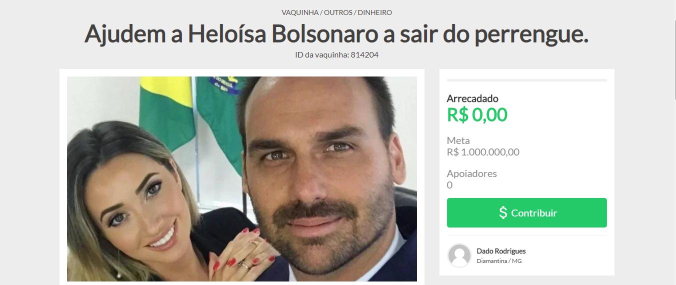 Eduardo Bolsonaro e Heloísa Bolsonaro