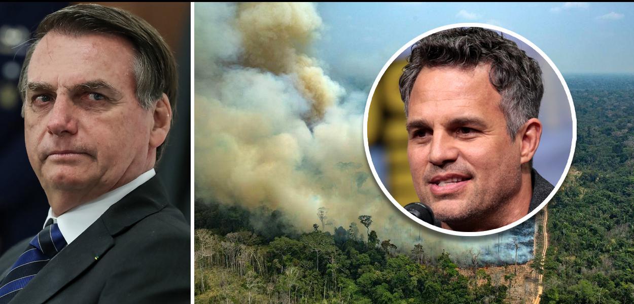 Mark Ruffalo defende DiCaprio e relaciona Bolsonaro a queimadas na Amazônia
