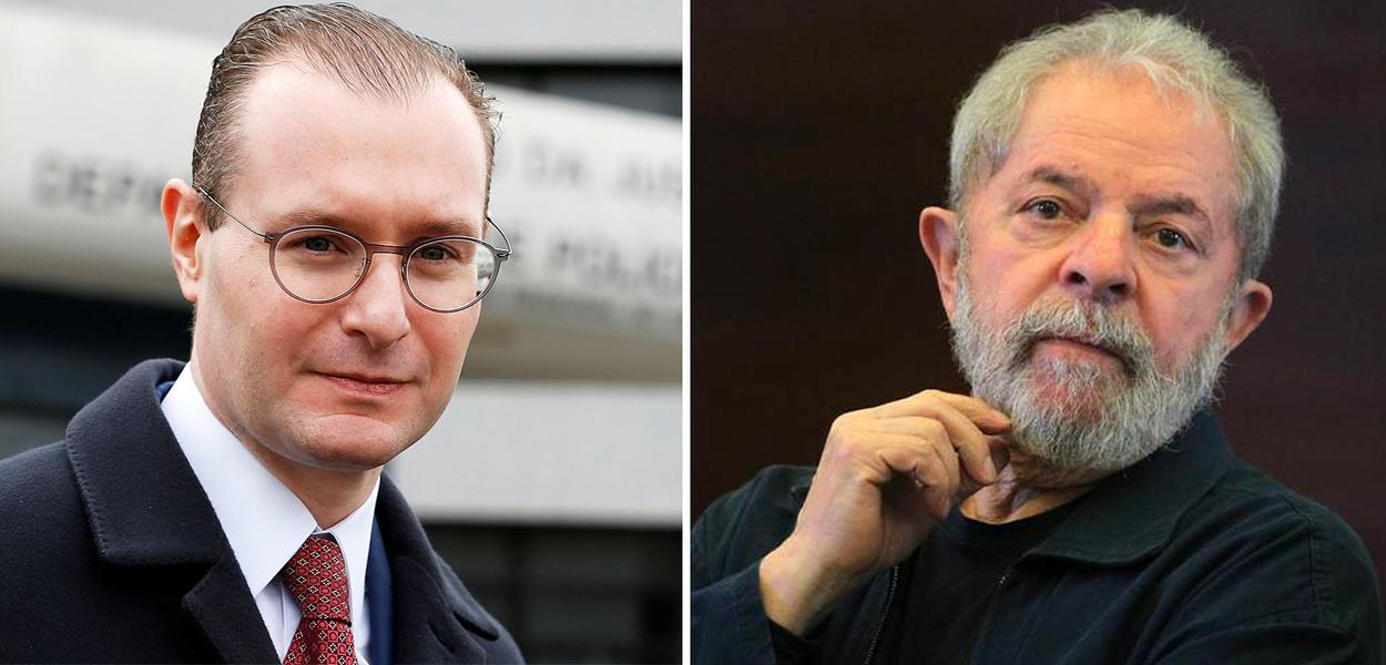 O advogado Cristiano Zanin e Lula