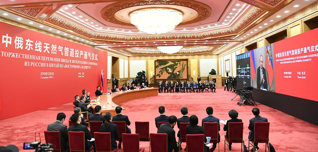 China e Rússia lançam gasoduto