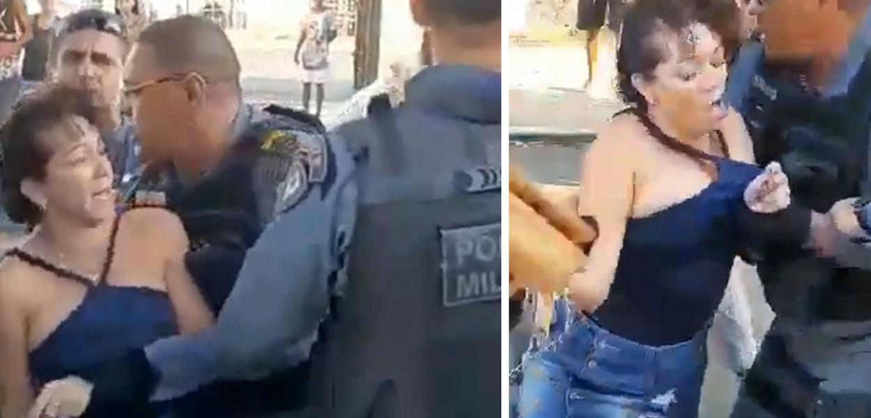 Картинки по запросу Policial agride, abusa sexualmente de uma mulher e população o impede de levá-la presa