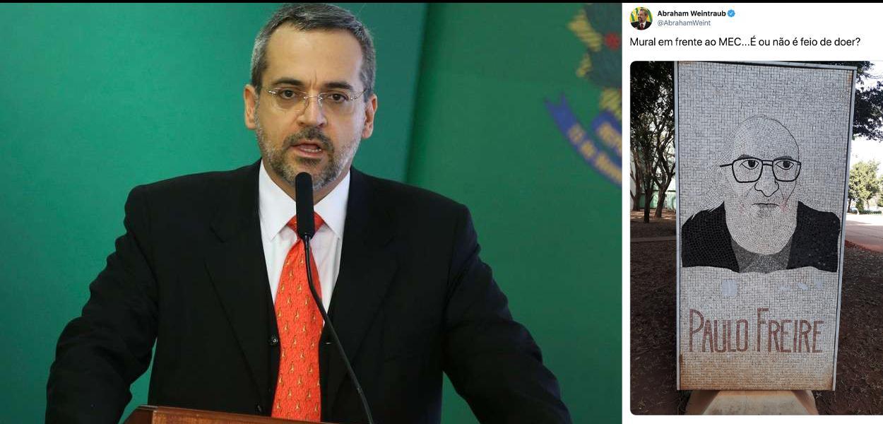 Ministro da Educação, Abraham Weintraub, ataca Paulo Freire