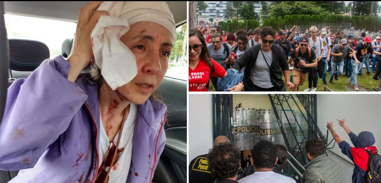 Repressão policial contra servidores na Assembleia Legislativa do Paraná