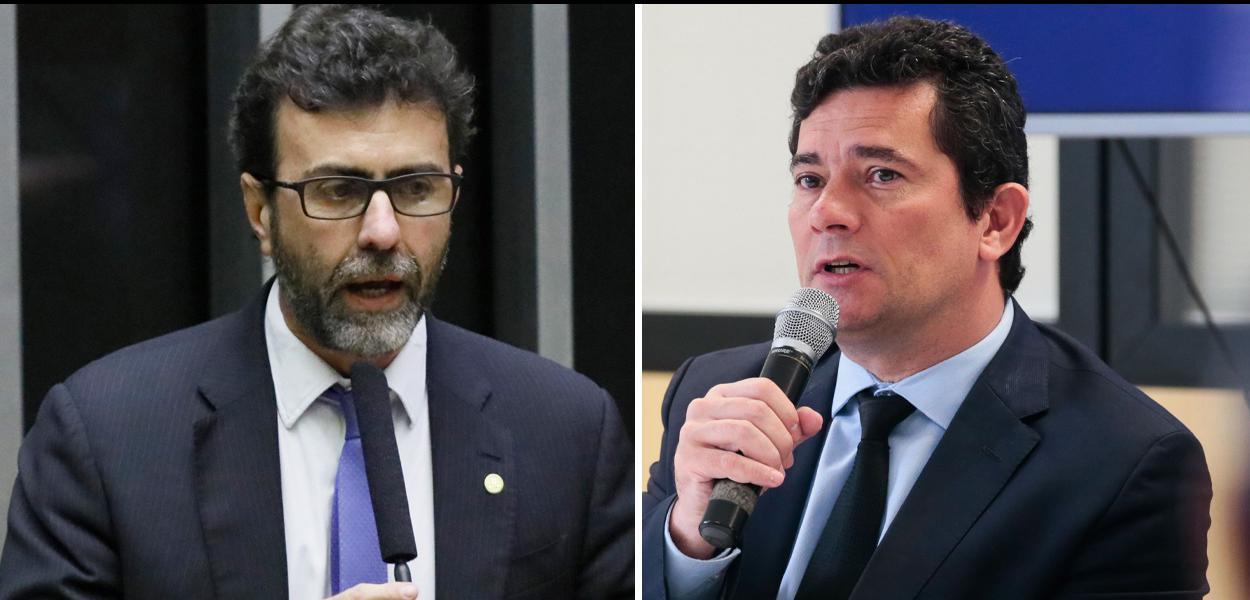 Deputado Marcelo Freixo e ministro Sergio Moro