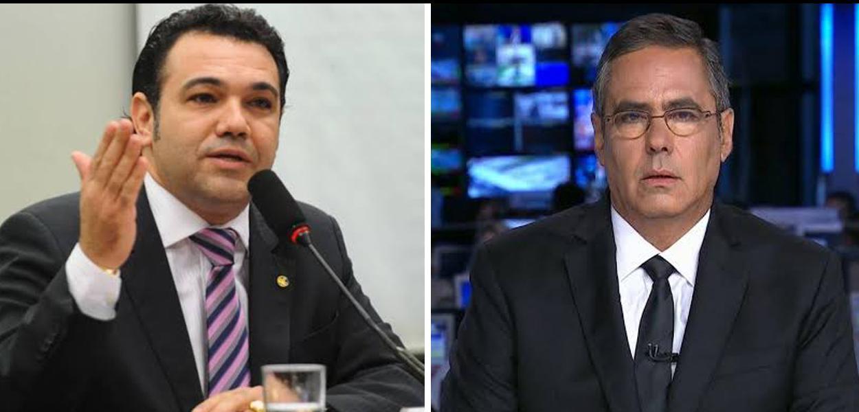 Deputado Marco Feliciano e o jornalista Fábio Pannunzio