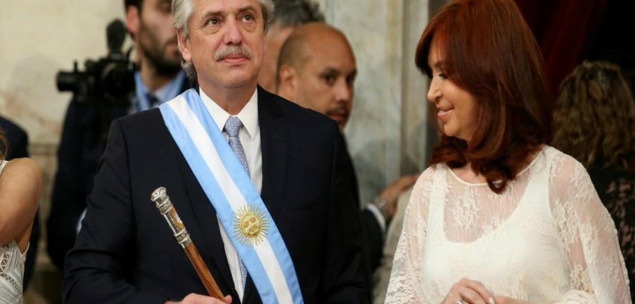 Alberto Fernánde e Cristina Fernández de Kirchner