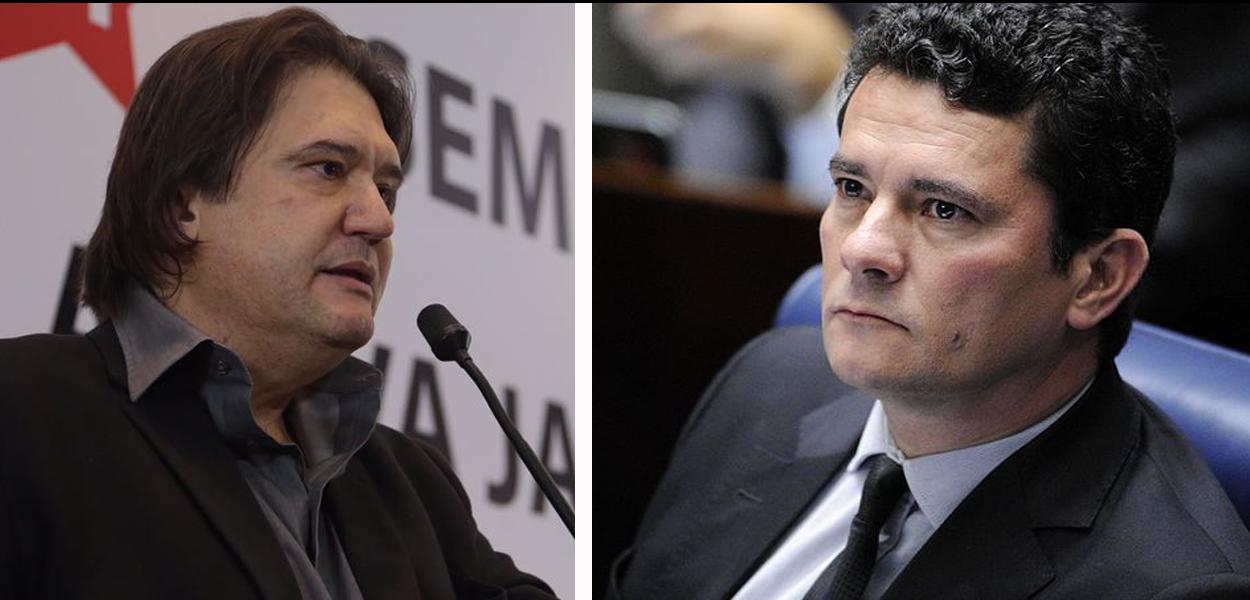 Pedro Serrano e Sérgio Moro