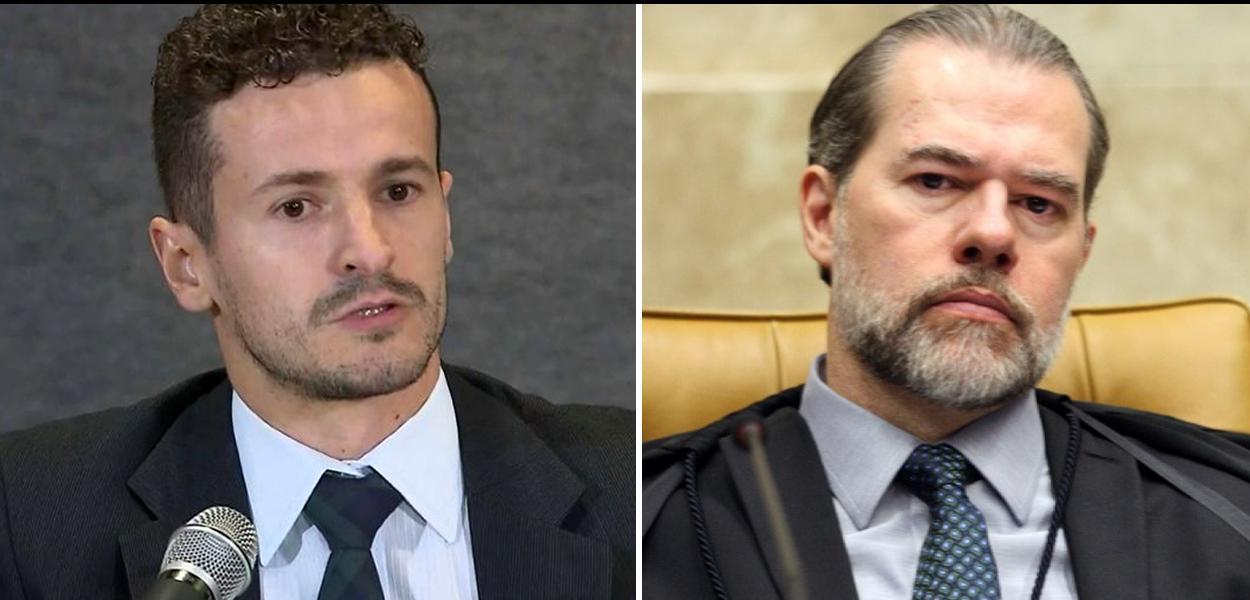 Procurador Roberto Pozzobon e ministro Dias Toffoli (STF)