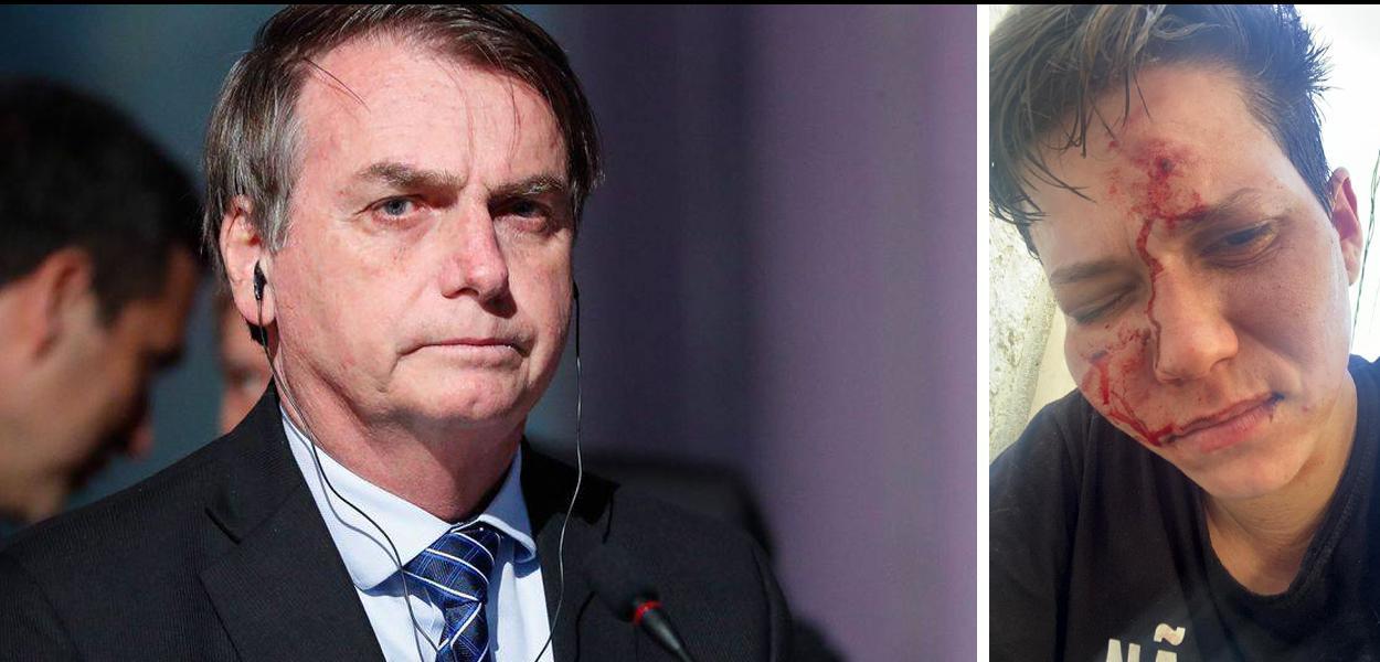 Bolsonaro e Karol Eller, agredida por homofobia